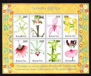 Burkina Faso 1163 Orchids Souvenir Sheet MNH VF