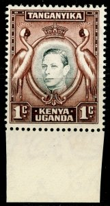 KENYA UGANDA TANGANYIKA SG131ag, 1c black & dp chocolate-brwn, NH MINT.