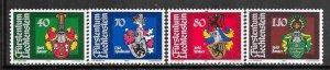 Liechtenstein #729-732  Coat of Arms (MNH)  CV $2.60