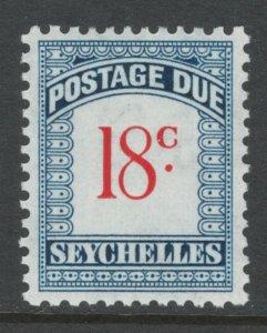 Seychelles 1951 Postage Due 18c Scott # J6 MH