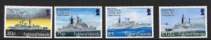 FALKLAND ISLANDS SG1304/7 2014 ROYAL NAVY MNH
