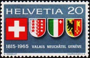 Switzerland. 1965  20c S.G.724 Unmounted Mint