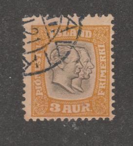 Iceland Stamp, Scott# O31, used, 3 AUR,  #M606