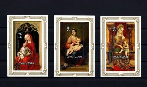 COOK IS - 1978 - CHRISTMAS - VIRGIN & CHILD - MURILLO - CRIVELLI + 3 X MNH S/S!