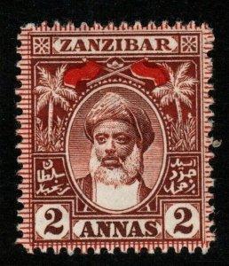 ZANZIBAR SG191 1899 2a RED-BROWN MTD MINT