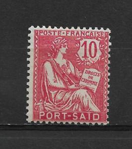 French Offices-Port Said 10c Scott # 23,VF MLH*OG (FC-6)