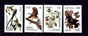 Ghana 980-83 MNH 1985 Birds
