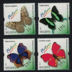 Moldova Butterflies 4v MI#838-841