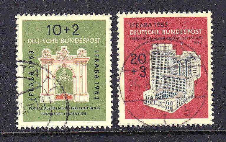GERMANY B332-B333 1953 CDS VF SOUND SET $45 SCV