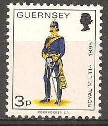 Guernsey #100 Mint Never Hinged F-VF (B427)