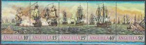 Anguilla, Sc # 127-131, MNH, 1971, Ships