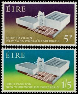 ✔️ IRELAND 1964 - NEW YORK FAIR IRISH PAVILLION - SC. 194/195 MNH OG [IR0165]