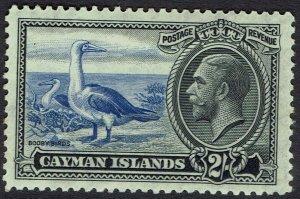 CAYMAN ISLANDS 1935 KGV BIRDS 2/-
