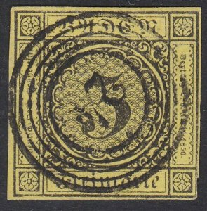 GERMANY BADEN SG3 - fine 24 in circles cancel..............................F322