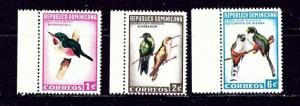 Dominican Republic 602-04 MNH 1964 Birds
