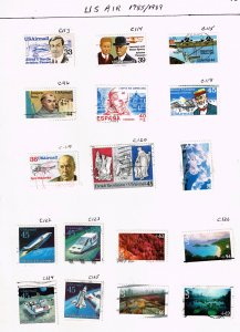 US STAMP BOB AIR MAIL USED STAMP COLLECTION LOT  #1