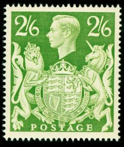 SG476b, 2s 6d yellow-green, M MINT. Cat £15.