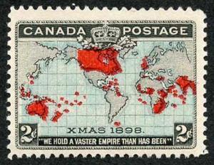 Canada SG168 1898 Christmas Blue Ocean U/M