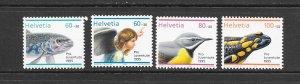 FISH - SWITZERLAND #B608-11  BIRD-REPTILE  MNH