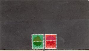 NORWAY 637-638 MNH 2019 SCOTT CATALOGUE VALUE $4.25