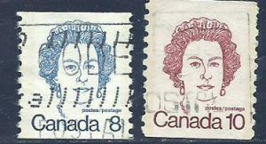 Can #604-605   used 1974-76 PD