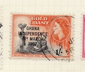 Gold Coast 1957 Early Issue Fine Used 1S. Optd 283922