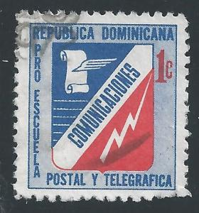 Dominican Republic #RA53 1c Communications Emblem