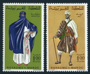 Morocco 205-206,MNH.Michel 597-598. Regional Costumes 02.23.1968.