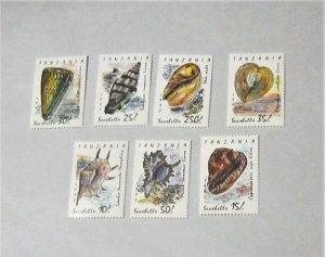 Tanzania - 940-47, MNH Set and S/S. Shells. SCV - $14.85