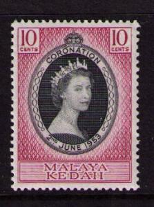 MALAYA KEDAH Sc# 82 MH FVF QEII Coronation 10c