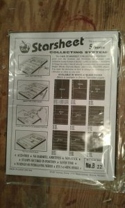 G&K Starsheet 2 sided Black Stockpages with 2 pockets--new/sealed package of 5