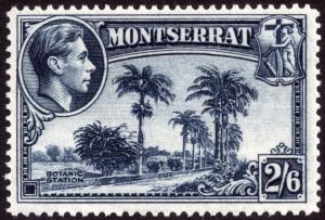 Montserrat 1943 2s6d Slate-Blue Perf 14 SG109a MLH