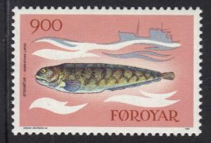 Faroe Islands 1983 MNH fishes  900 ore    #