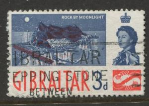 Gibraltar - Scott 151 - QEII Definitive Issue -1960- Used - Single 3d Stamp