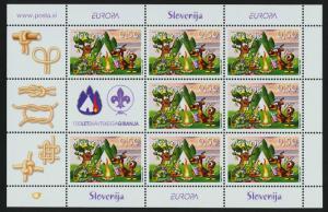 Slovenia 713 Sheet MNH Scouts, Animals, cartoons, Turtle