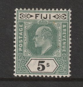 Fiji a MH 5/- green & black Edward from the 1903 set