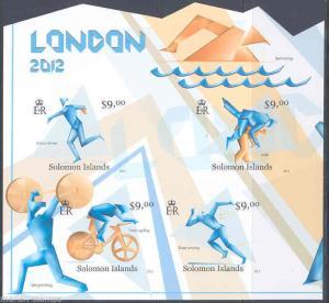 SOLOMON ISLANDS 2012 LONDON OLYMPICS SHEET IMPERFORATED