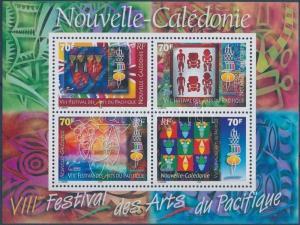 New-Caledonia stamp Art festival block 2000 MNH Mi 25 WS180403