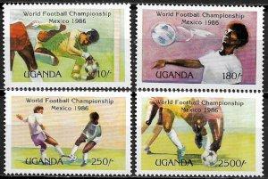 Uganda #480-3 MNH Set - World Cup Soccer