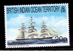 British Indian Ocean Territory BIOT Scott 209 MNH** Tall Ship Stamp