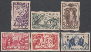 Togo 258-263 MH CV $9.90