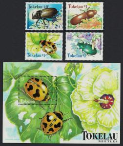 Tokelau Beetles 4v+MS SG#278-MS282