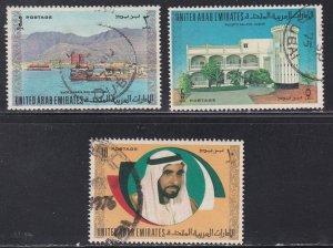 United Arab Emirates #  22-24, High Value Stamps, Used, 1/3 Cat..