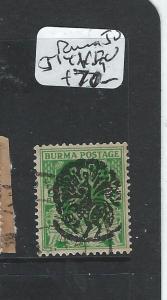 BURMA JAPANESE OCCUPATION (P1801B) SG J14  VFU