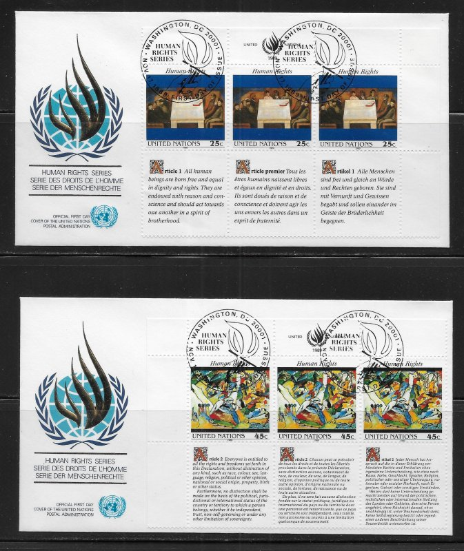 United Nations 570-71 1989 HR Geneva Cachet FDC First Day Cover