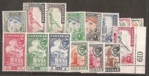 Zanzibar SC  249-63 Mint Never Hinged