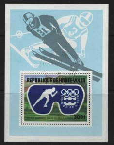 BURKINA FASO C227 USED WINTER OLYMPIC GAMES, SSHEET 1975