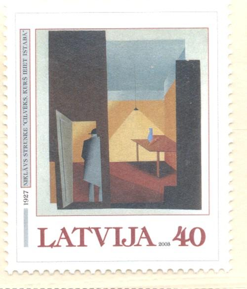 Latvia Sc 564 2003 Painting by Strunke stamp mint NH
