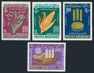 Afghanistan 642-C45,MNH.Michel 746-749. Freedom from Hunger campaign.FAO-1963.