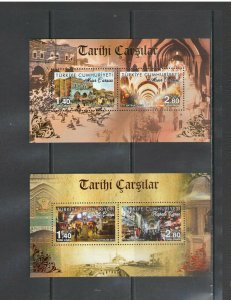 TURKEY:+BUY NOW+ Sc 3490-91 / **GRAND & EGYPTIAN BAZAAR ** / 2 SHEETS   / MNH.